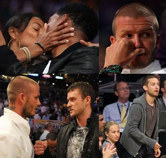 Will Smith, Jada Pinkett Smith, Ronny Turiaf, Jack Nicholson; David Beckham, Justin Timberlake, Spike Lee, Andy Garcia