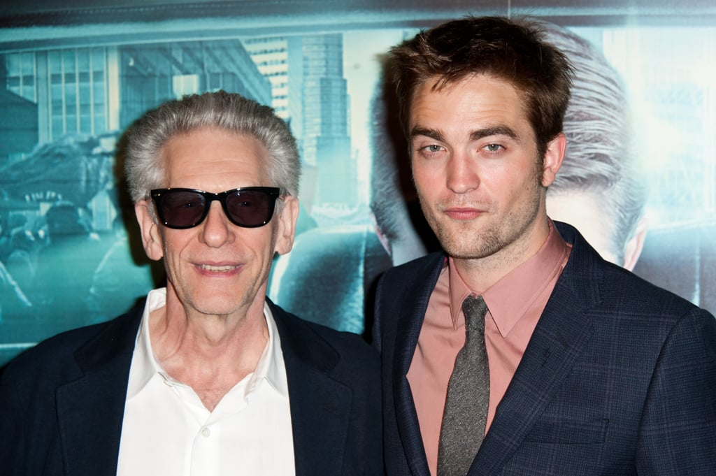 Robert Pattinson and David Cronenberg  met up for a photo while walking the red carpet at the Cosmopolis premiere.