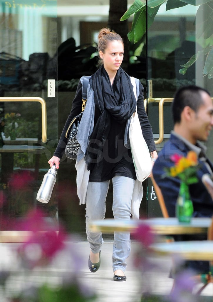 Jessica Alba Deals With Heartburn and Hackers During a Day Out