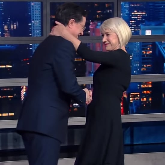 Helen Mirren Kisses Stephen Colbert on The Late Show | Video