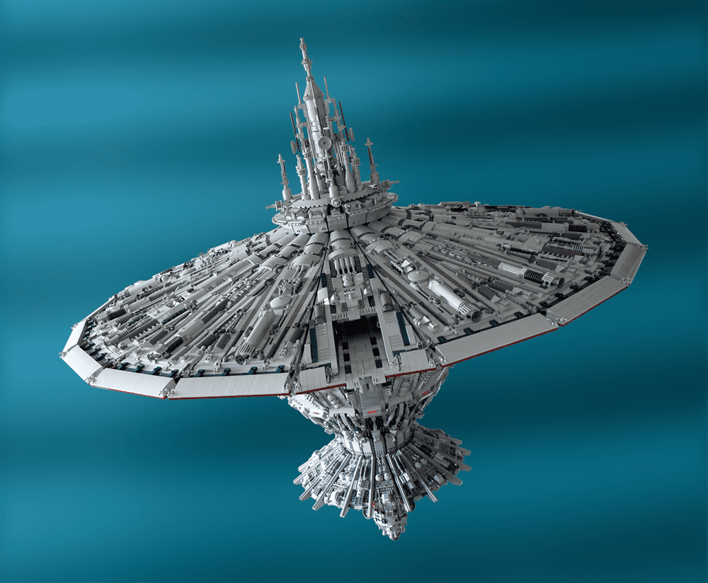 """The Enterprise and the Death Star combined are no match to Garry King's """"Cetanclass Baseship."""" Source: Cetanclass Baseship (2012) © Garry King"""