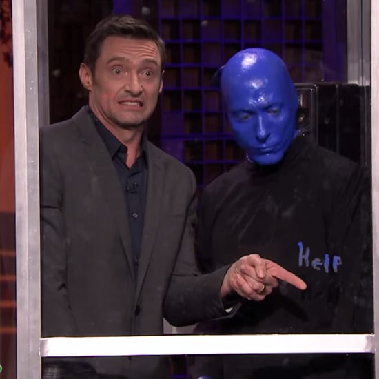 Hugh Jackman Plays Phone Booth on Tonight Show   Video