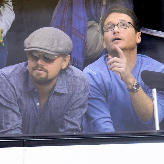 Leonardo DiCaprio and Kevin Connolly at LA Kings Game