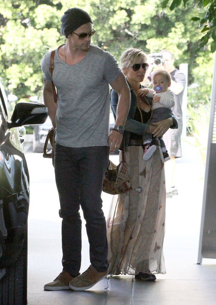 Chris Hemsworth Hangs With Elsa and India Ahead of His New Project