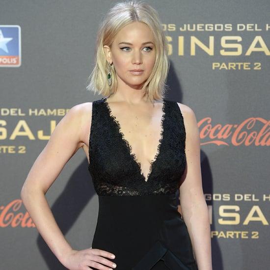 Jennifer Lawrence in Ralph Lauren in Spain