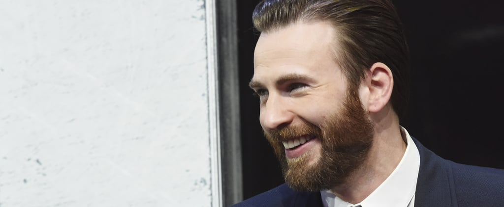 Chris Evans Gets Caught Gawking at Elizabeth Olsen's Cleavage on the Red Carpet