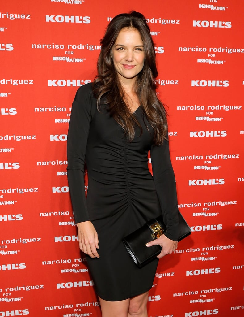 Katie Holmes wore a tight black dress in NYC.