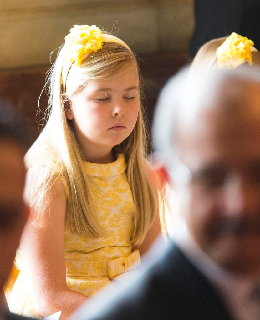 Princess Catharina-Amalia snuck in shut-eye during the Act of Abdication.