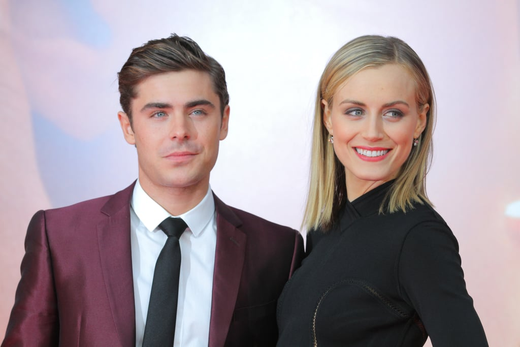 Taylor Schilling and Zac Efron arrived in Germany for the premiere of The Lucky One.