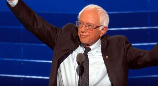 Bernie Sanders Says He's With Her in DNC Speech