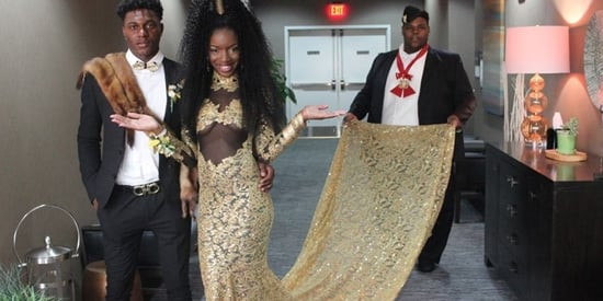 This Teen SLAYED Prom With Her 'Coming To America' Themed Gown