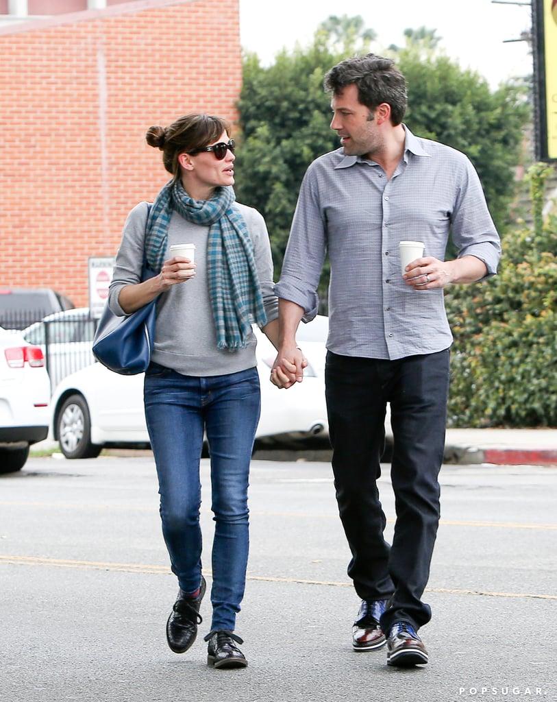 Jennifer Garner and Ben Affleck held hands on a stroll through LA, sharing a sweet look.
