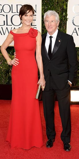 Carey Lowell and Richard Gere(2013 Golden Globes Awards)