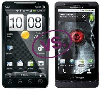 Droid X vs HTC EVO 4G