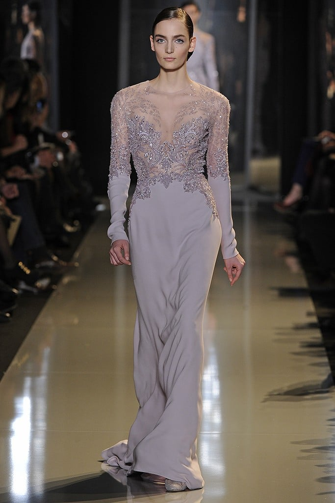 Keira Knightley would shine in this pale lavender gown, which features the most intricate detailing along the bodice.