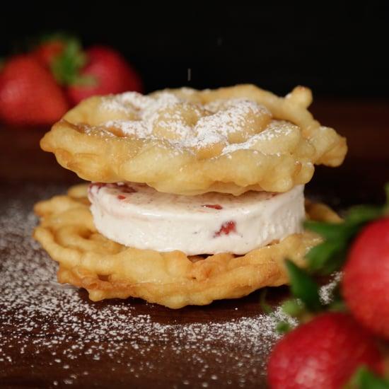 Funnel Cake Ice Cream Sandwich Recipe