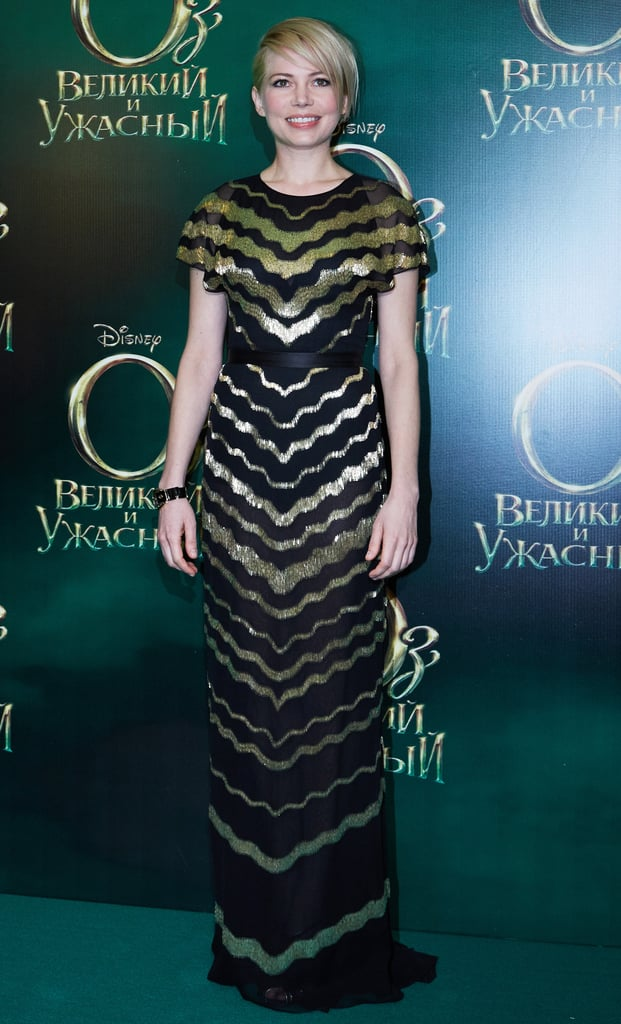 Michelle Williams shimmered in her gown.