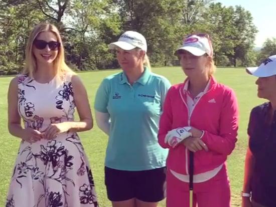 See Ivanka Trump Crush a Golf Ball - in Heels!