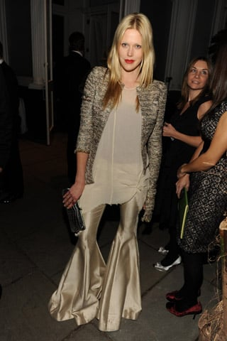 Socialite Actress Byrdie Bell Wears Bell-Bottoms to Winter Wonderland Ball in New York City