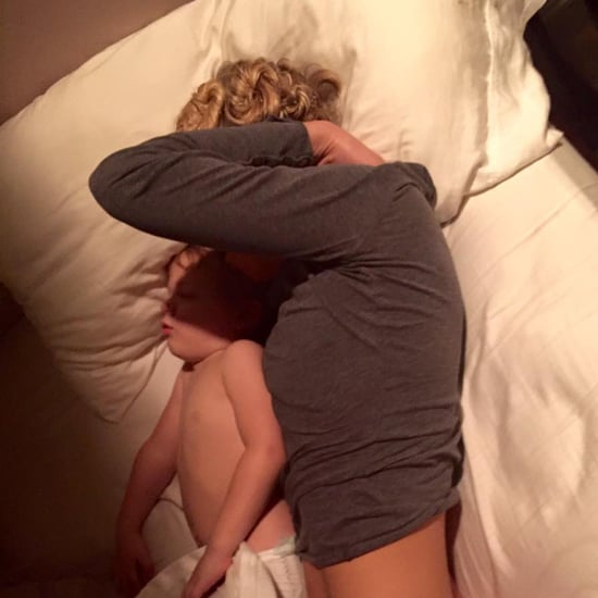Husband's Photo of His Nurse Wife Napping With Son