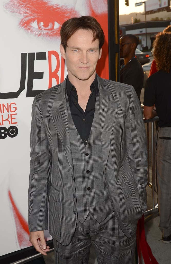 Stephen Moyer looked calm and cool as he arrived at the premiere.