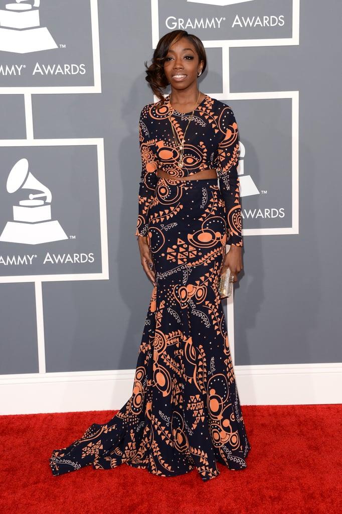 Estelle hit the Grammys red carpet.