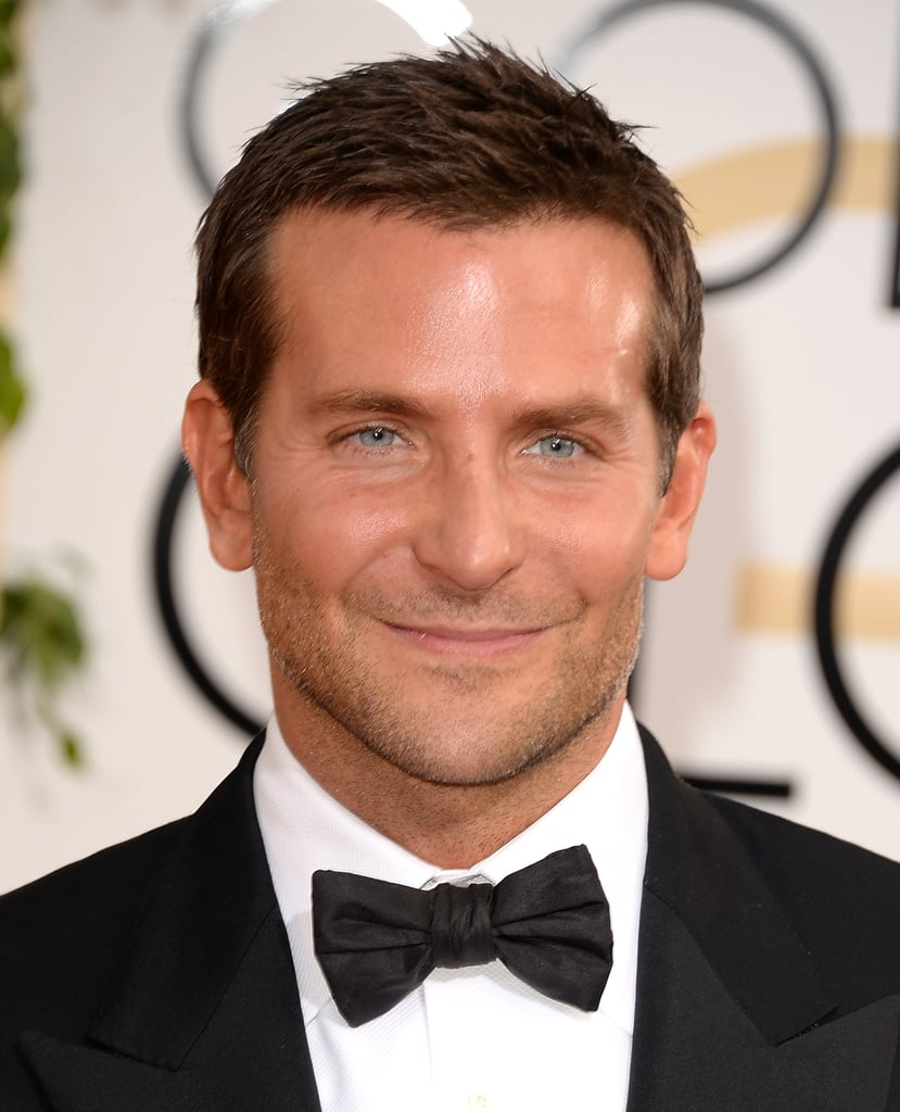 Bradley was clean-shaven with a slight spike to his hair at this year's Golden Globes.