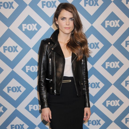 Keri Russell Wearing Leather Skirt at Fox All-Star Party