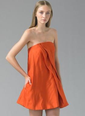 Chloe Swing Drop Orange Mini Dress: Love It or Hate It?