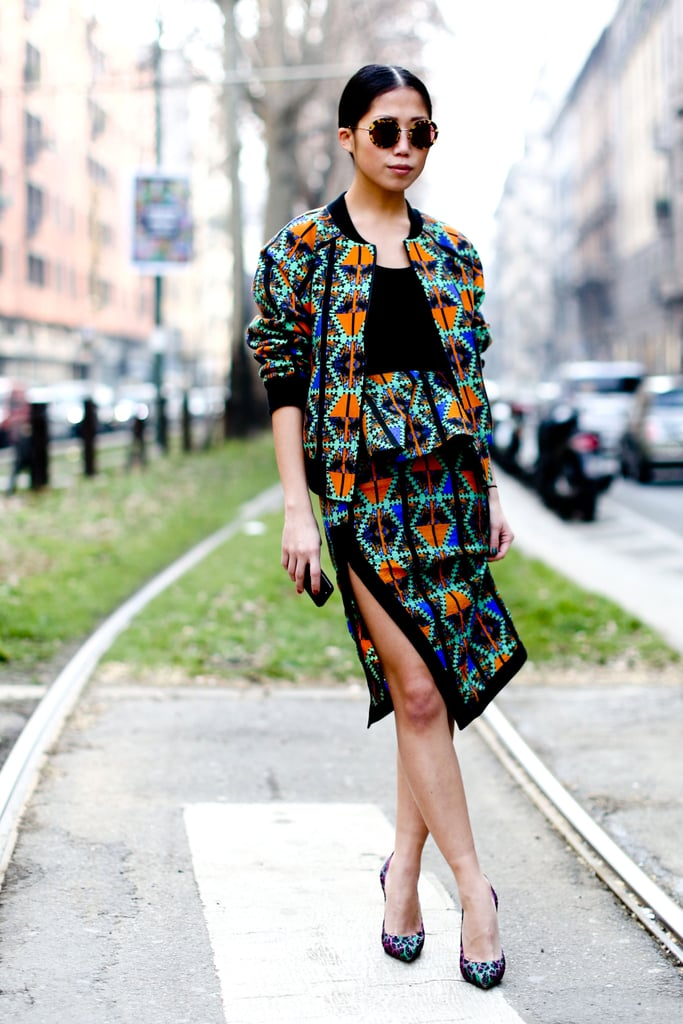 Wow-factor print with a sophisticated spin.