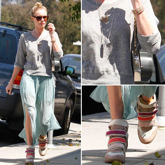 Kate Bosworth Wears Maxi Skirt and Isabel Marant Trainers on the Street: Steal Her Style via Shopstyle Australia