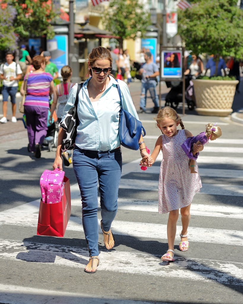 Jennifer Garner and Violet Affleck left the American Girl store in LA in August together.