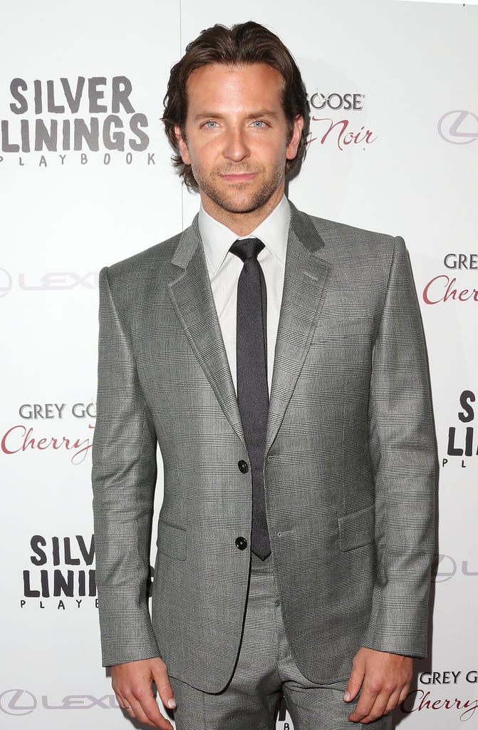Bradley Cooper looked dapper in a gray suit at his Silver Linings Playbook LA premiere.