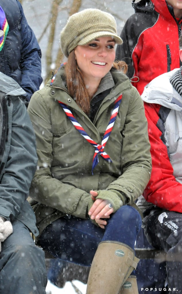 Kate Middleton bundled up for the cold weather.