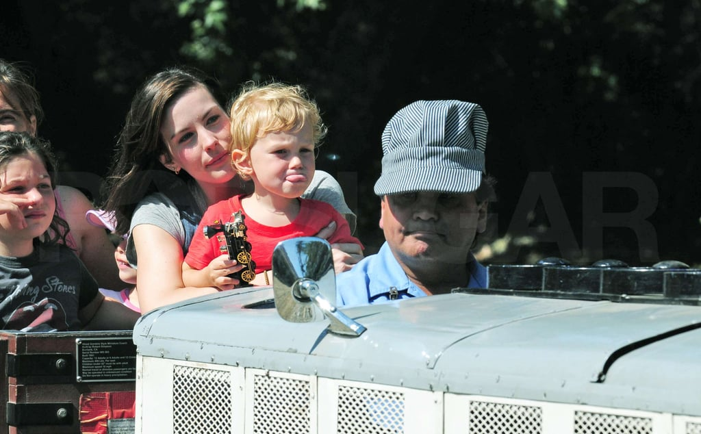 Liv Tyler and Milo Enjoy a Ride on the Rails