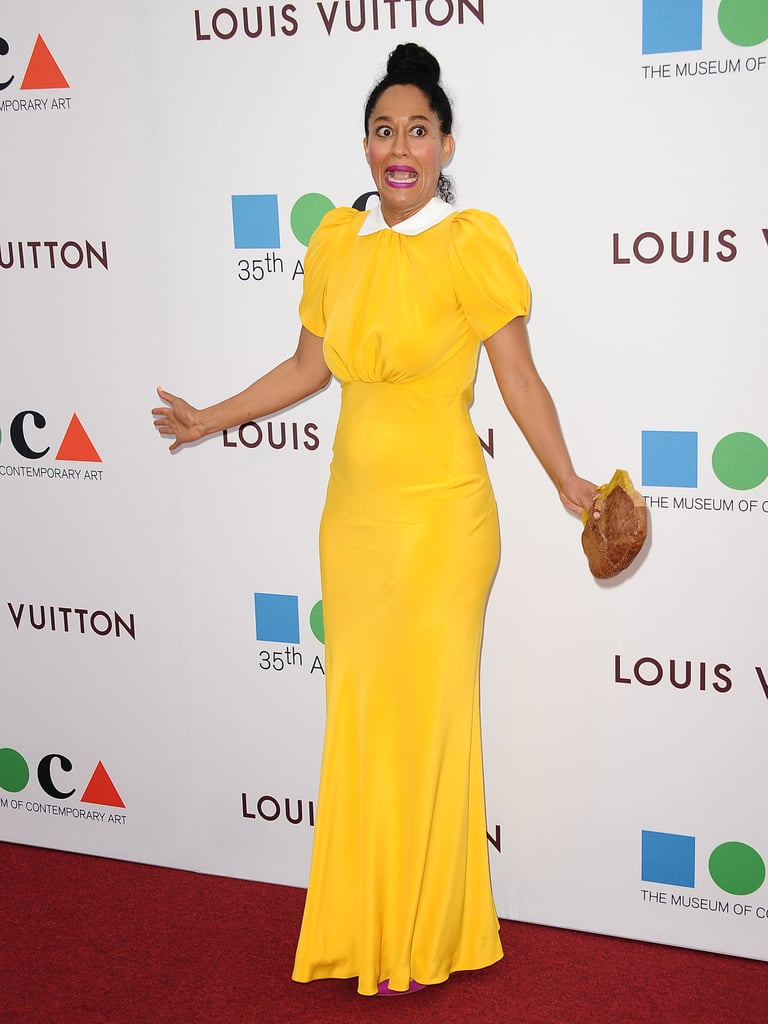 Tracee Ellis Ross wore a bright yellow ensemble.