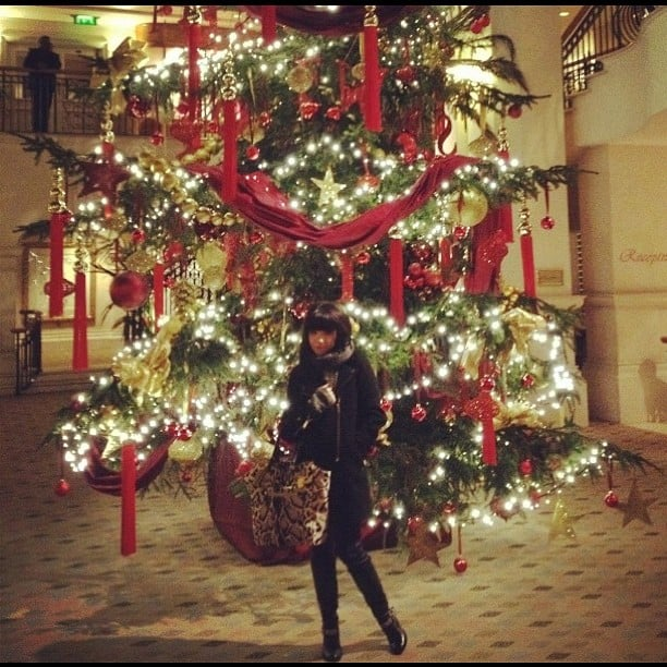 Carly Rae Jepsen posed in front of a huge tree.  Source: Instagram user carlyraejepsen
