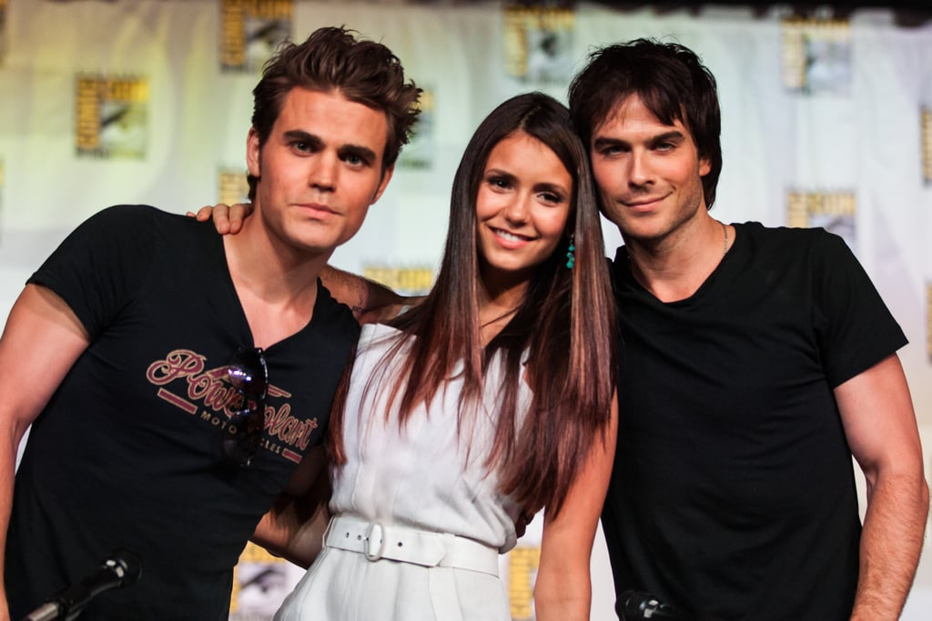 Paul Wesley attended The Vampire Diaries panel with then-couple Nina Dobrev and Ian Somerhalder in 2012.