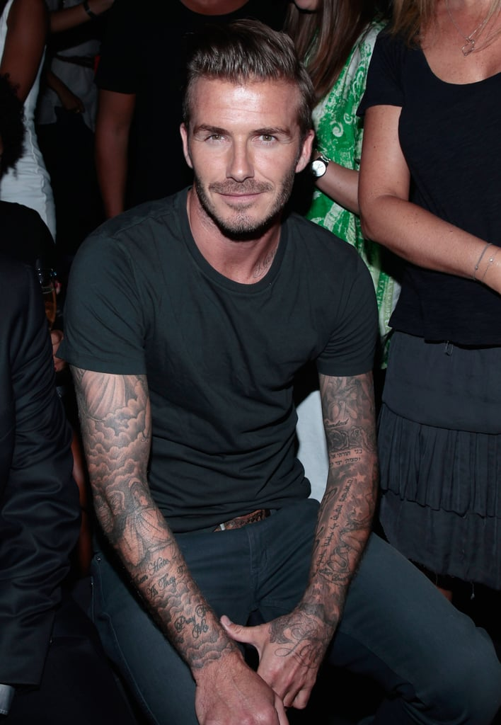 David Beckham took in the Y-3 show at NYFW in September 2012.