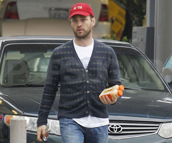 Slide Picture of Jason Priestley Picking Up Orange Juice in LA