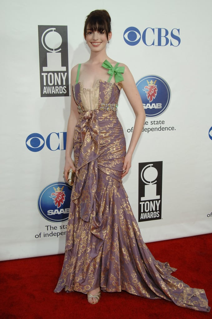 A costume-inspired gown at the 2005 Tony Awards that's more quirky than sophisticated.