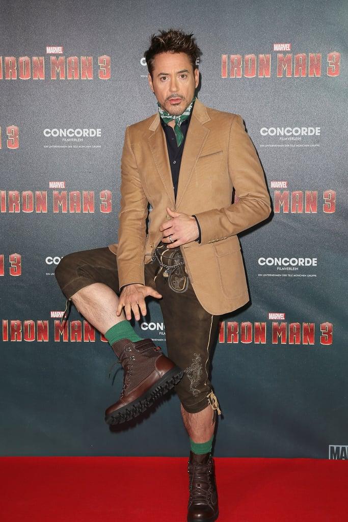 Robert Downey Jr. Wearing Lederhosen