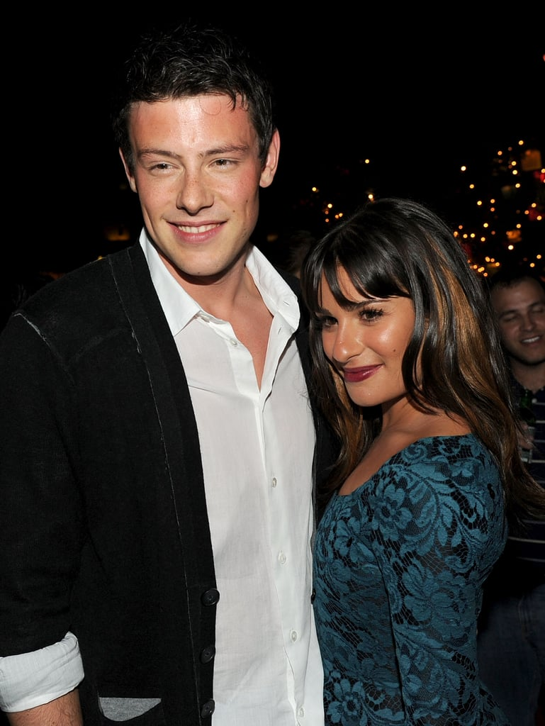 Lea Michele and Cory Monteith shared a moment at a September 2010 Glee bash in Hollywood.