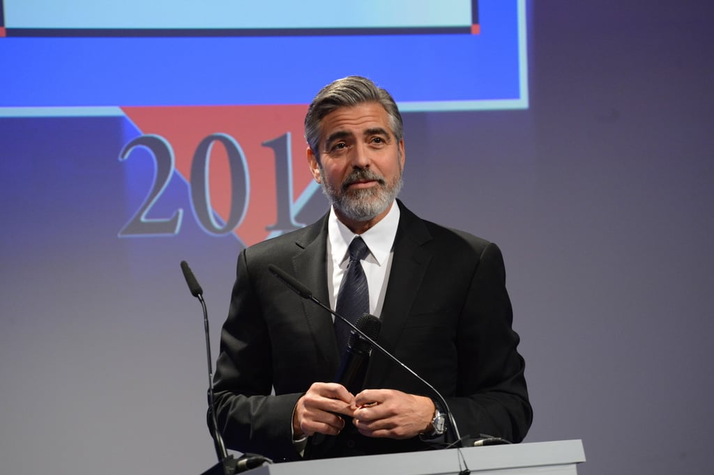 George Clooney Picks Up Humanitarian Prize Following His Big Oscar Win