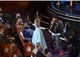 """Lupita Nyong'o didn't hold back during Pharrell's performance of """"Happy."""""""