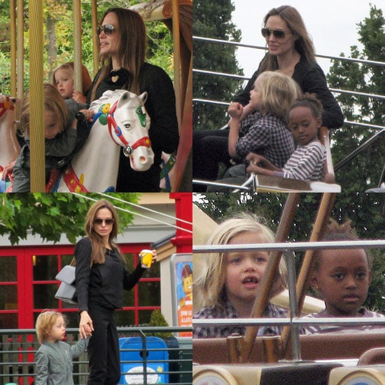 Angelina Jolie Visits Legoland With Knox, Shiloh, and Zahara