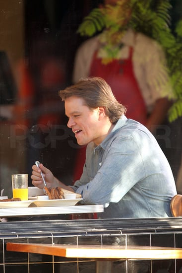 Pictures of Matt Damon Filming We Bought a Zoo in LA