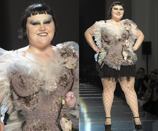Photos of Beth Ditto on the Catwalk at Jean Paul Gaultier for Spring 2011
