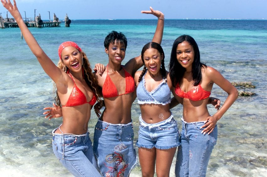 2000: The second edition of Destiny's Child hits the beach in Cancun.