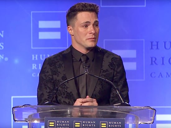 Colton Haynes Breaks Down in Tears Accepting HRC Visibility Award: 'Equality Is Our Birthright - It's Not a Slogan'